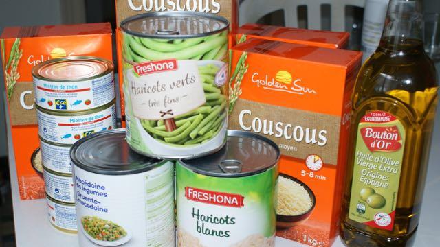 Ingredients pâtée vite prête pour poule : couscous tiède au thon