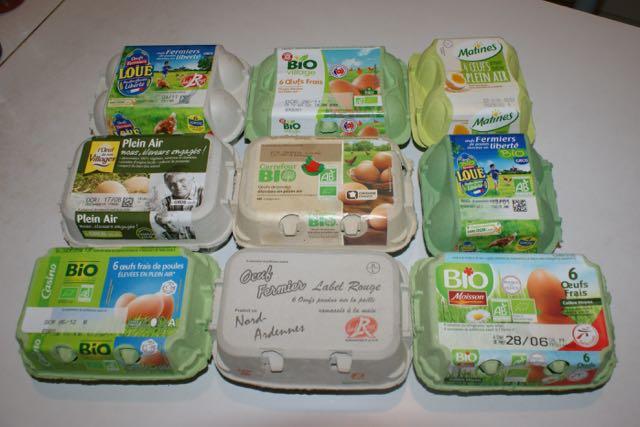 boites d'œufs industriels